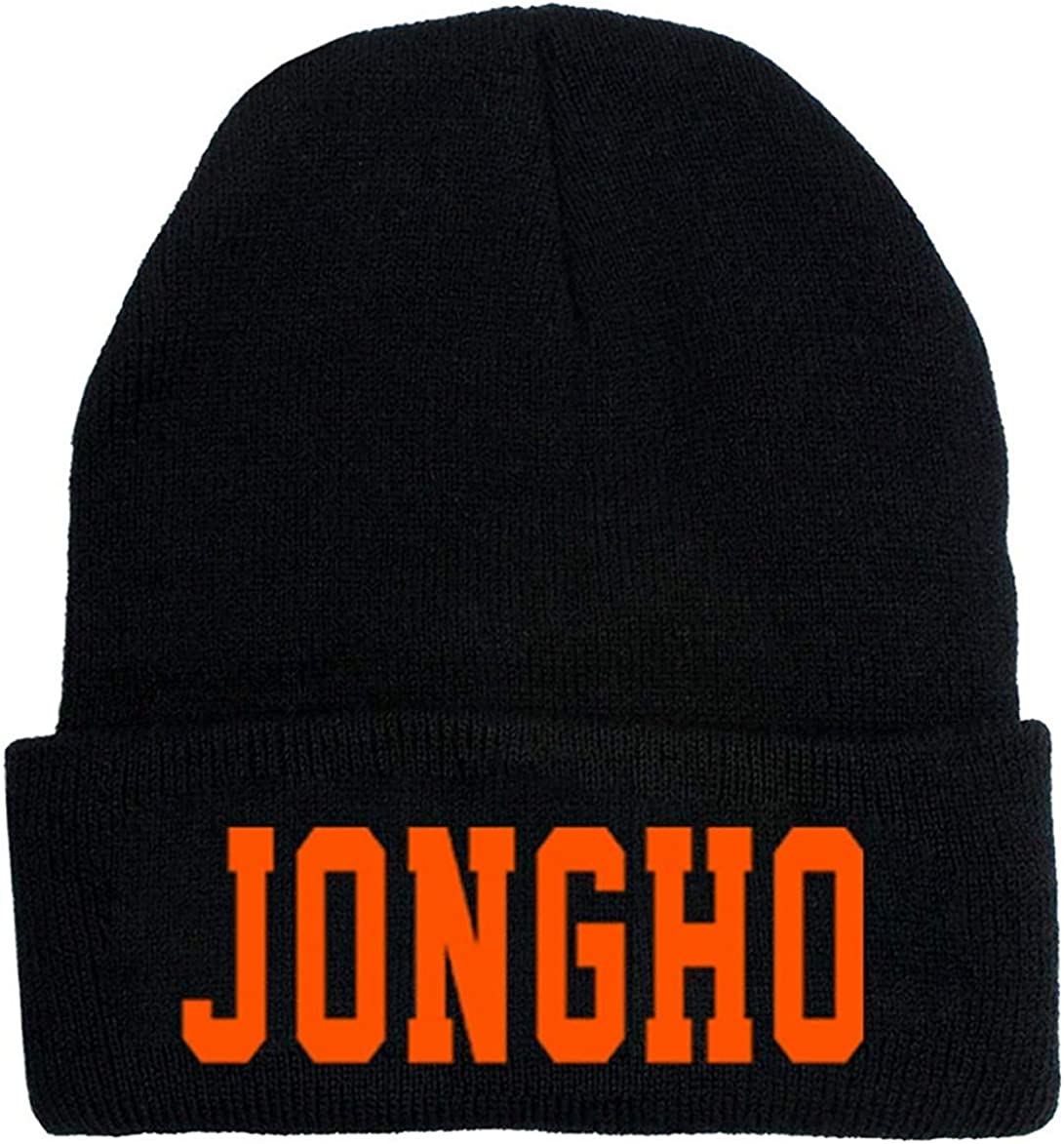 aixingwuzi Fiable Nuevo /álbum de Punto Invierno Caliente Sombrero Hongjoong Seonghwa Yunho Yeosang San Mingi Wooyoung Jongho Ateez Firma Gorro Unisex