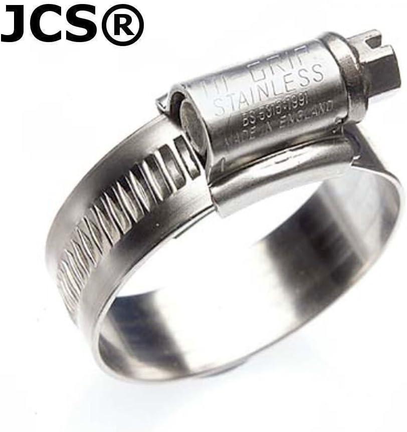 Colliers de serrage pour tuyau de marque JCS zingu/é Lot de 2 80-100mm 3 1//8-4 ins