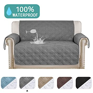 Remarkable 100 Waterproof Couch Cover For Leather Couch Protector Pet Furniture Covers For Living Room Waterproof Loveseat Cover Non Slip Dog Couch Cover Great Pabps2019 Chair Design Images Pabps2019Com