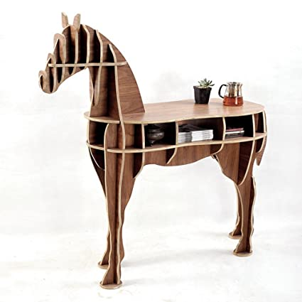 Merveilleux OTHER Home Office Wooden Horse Style Desk, Black Walnut Color
