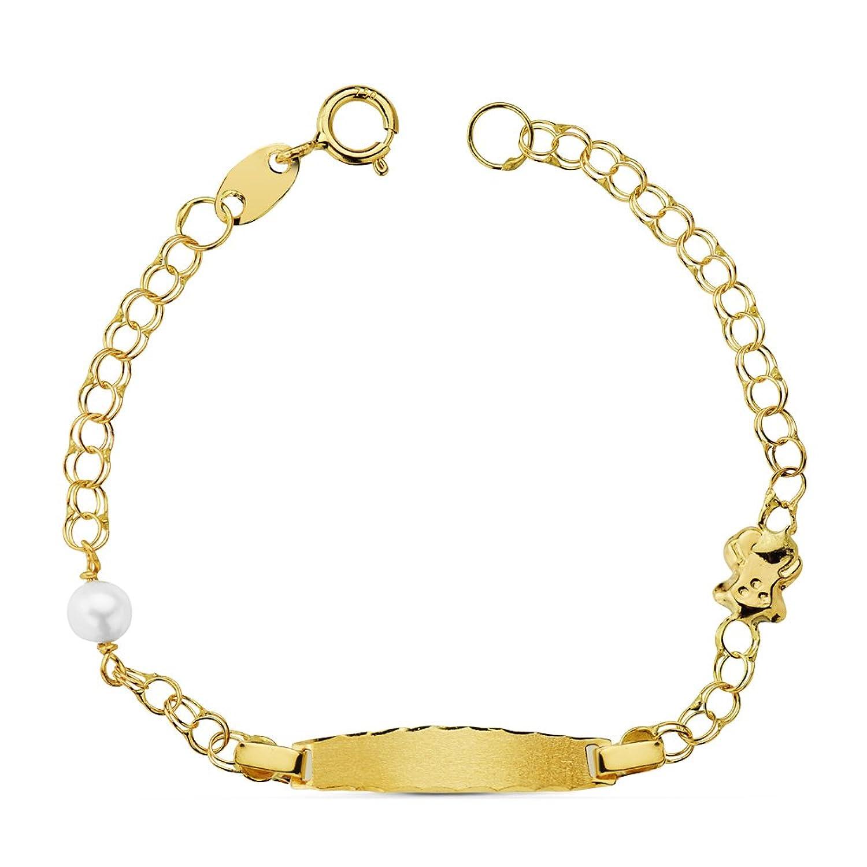Esclava bebé oro ktes ª perla Personalizable: grabado gratuito
