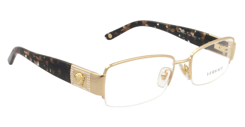Frame glasses versace - Amazon Com Versace Ve 1175b Eyeglasses W Gold Frame And Non Rx 51 Mm Diameter Lenses Versace Shoes