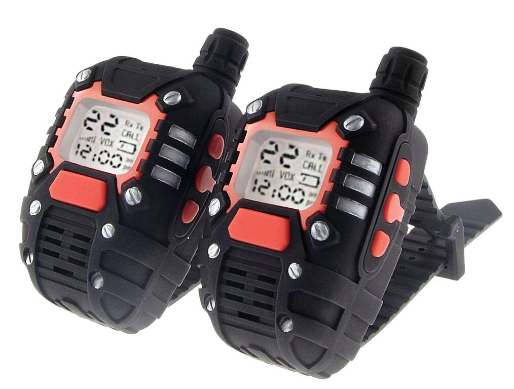 MukikiM SpyX / Wrist-Talkies - Wearable 2 Mile Range Walkie Talkies+Watch. 22 Channel Scan and Voice Activation make this the perfect addition for your spy gear collection!