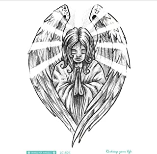 ruofengcp Body Art Halloween Sketch Angel Big Jesus Lupo Natale Tattoo Sticker Designer Temporary Flash Tattoo Sticker