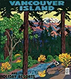 Vancouver Island Advertising Poster (12x18 Art Print, Wall Decor Travel Poster)