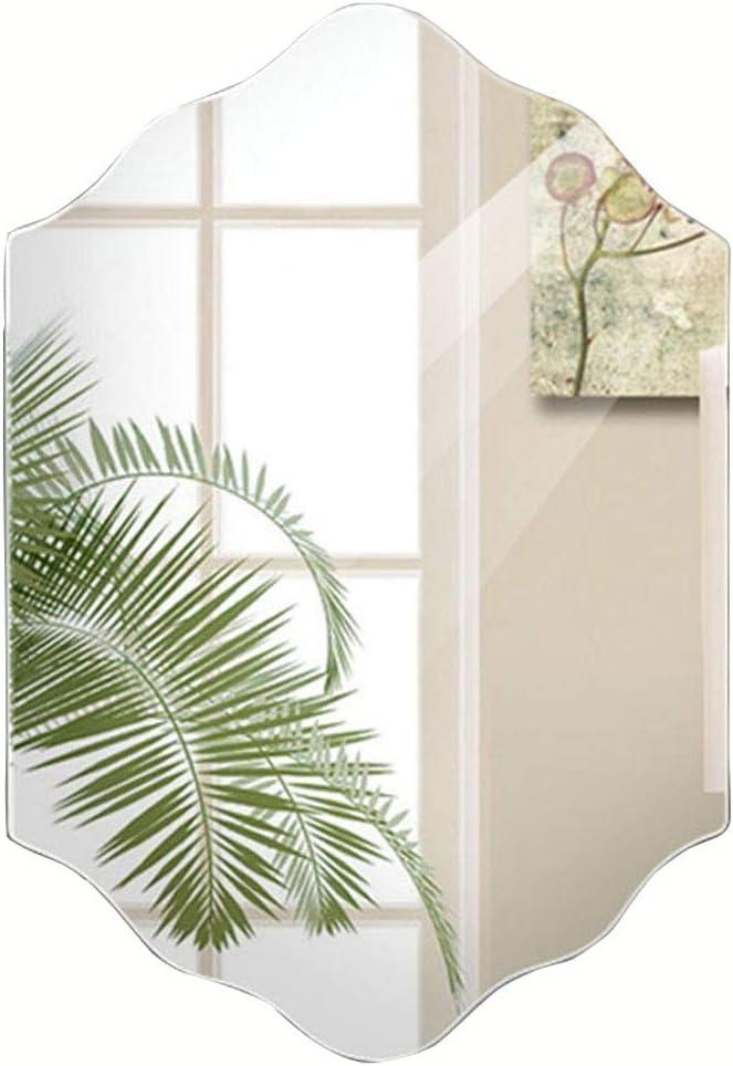 Mirror Espejo/vestidor sin Marco 5mm Colgante de Pared baño Espejo Fregadero Espejo de Cristal 3 tamaños (Tamaño : 50 * 70cm): Amazon.es: Hogar