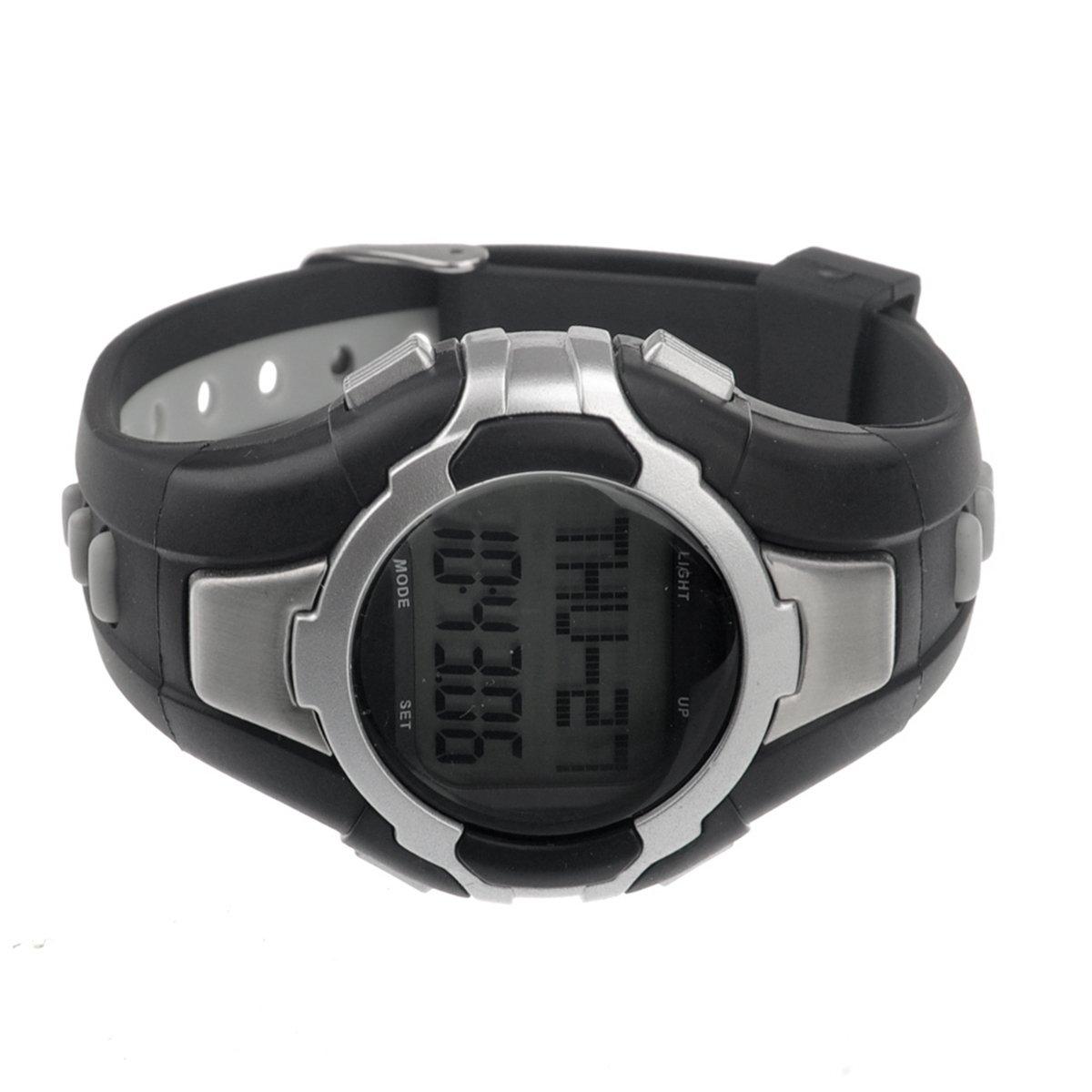 PIXNOR 1005 All-in-one impermeable sin tirantes Monitor calorías contador Digital reloj pulsómetro con podómetro /Stopwatch (plata)