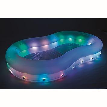 BW VARILANDO LED-Garten-Pool Planschbecken beleuchteter aufblasbarer ...
