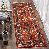 Safavieh Vintage Hamadan Collection VTH214C Oriental Antiqued Orange and Blue Runner (2'2'' x 8')