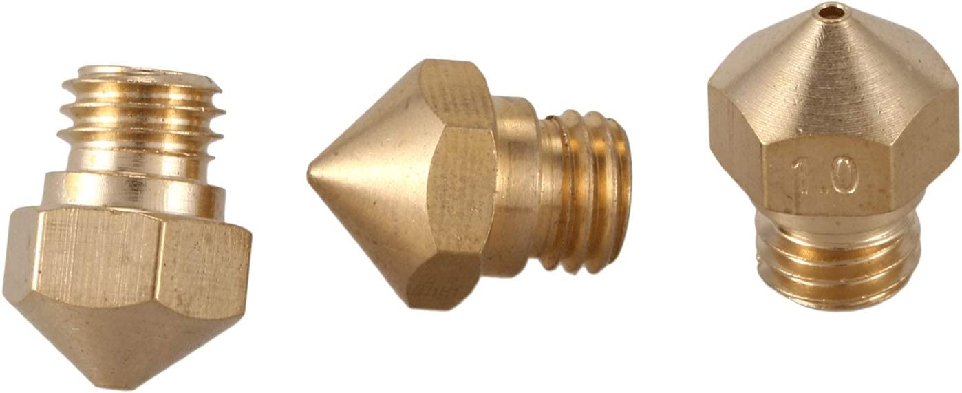 0.2mm 0.4mm 0.6mm 0.8mm 1.0mm JVSISM MK10 Nozzle Multi Size For 3D Printer Makerbot Parts 2 Pieces Of Each Size 10 Pieces In Total M7 Thread Nozzle For Extruder Hotend