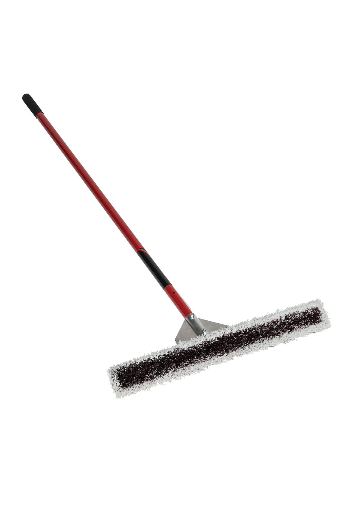 Kenyon 82602 Wonder Broom, Dual Bristles, 60'', 24'' Red Aluminum Handle