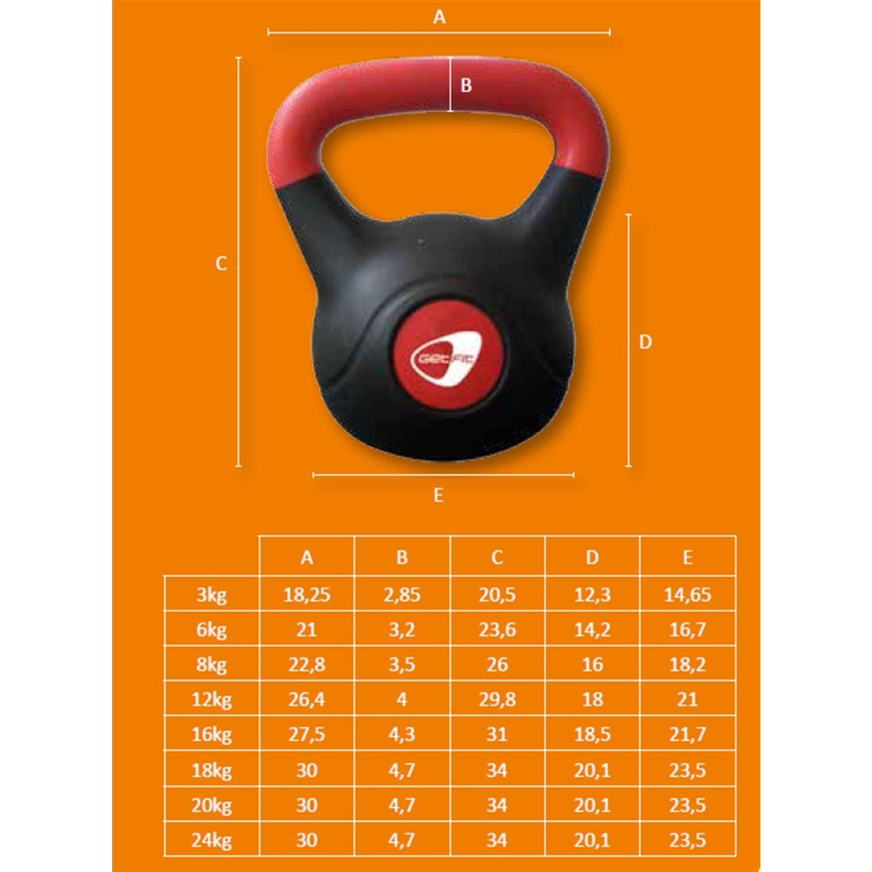 Kettle Bell Peso con maniglia Pesistica Palestra 16 kg GF184