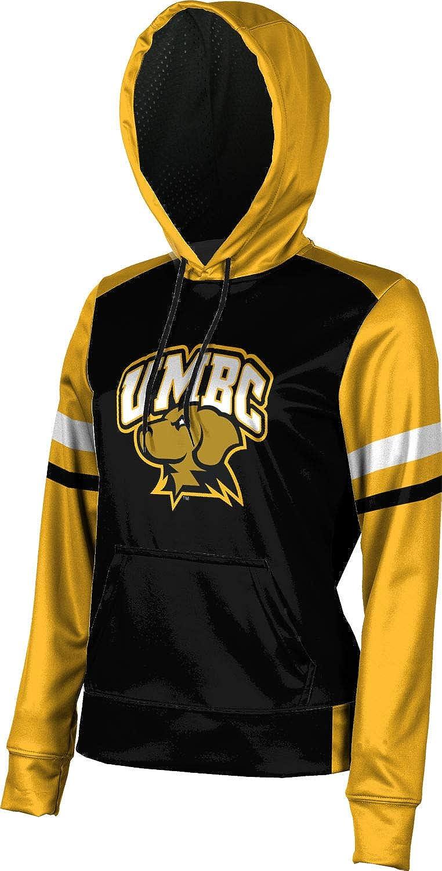School Spirit Sweatshirt ProSphere University of Maryland Baltimore County Girls Pullover Hoodie Old School