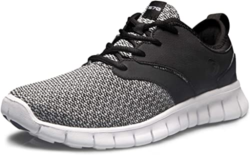 Mens Lightweight Road Running Shoes Sea Waves No Tie Mesh Sport Athletic Sneakers