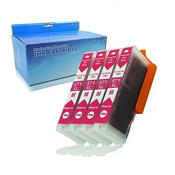 ouguan® Cartuchos de Tinta Compatible para Canon PGI-570 CLI-571 ...