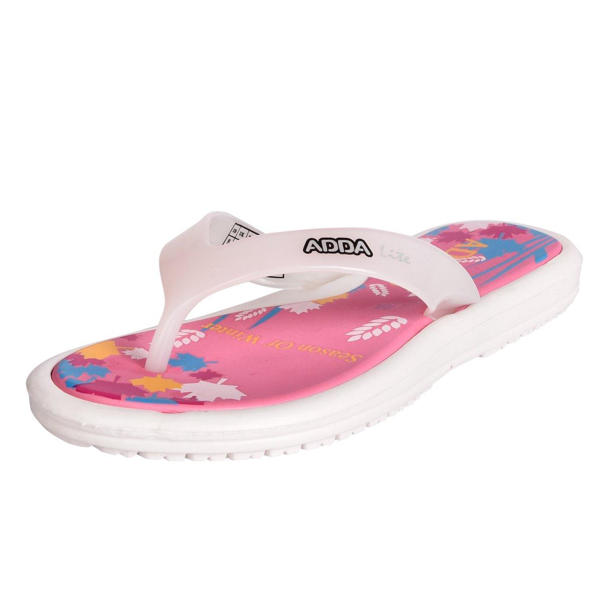 Pink White Rubber Slipper (Mini_1