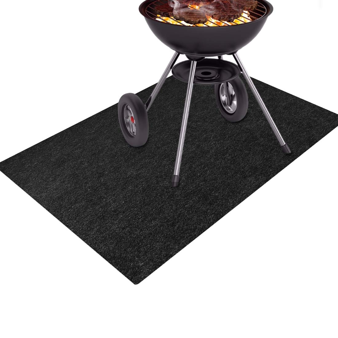 Together-life Gas Grill Splatter Mat, BBQ Fireproof Floor Mats Heat Resistant Non Stick Barbecue Patio Protector Grilling Gear, Backyard Floor Protective Rug