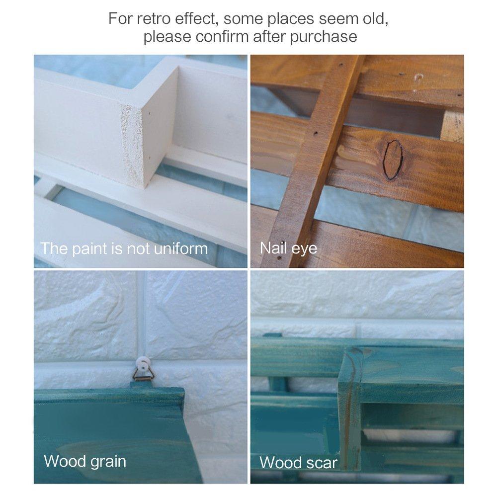 de madera flotante estanter/ía de pared madera retro 3 gancho con estantes flotante Montado en la pared estantes con ganchos para dormitorios Mini macet Coffee Baffect Gancho con estante