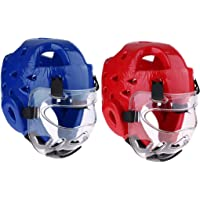 Perfeclan Lot 2 Boxing Helmet, MMA Martial Arts Kickboxing Fighting Training Head Face Protector Equipment