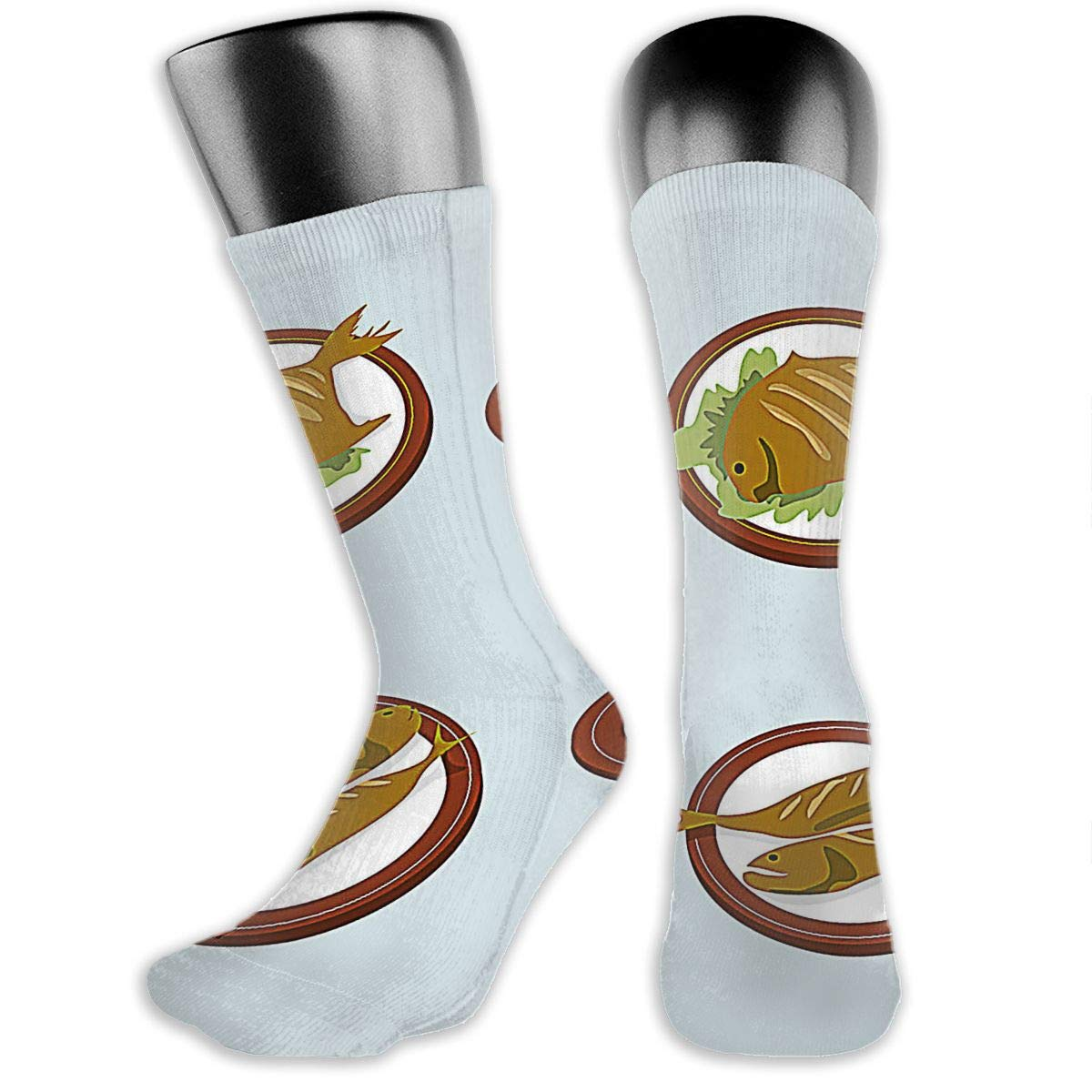 OLGCZM Delicious Fish Fry Men Womens Thin High Ankle Casual Socks Fit Outdoor Hiking Trail