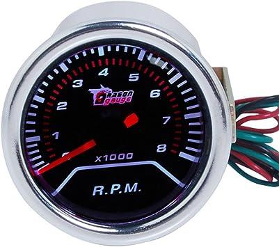 Supmico 52mm Weiß Led Licht Kfz Auto Universal Drehzahlmesser Anzeige Instrument Rpm Gauge Rauchfarbe Len Messgerät Auto