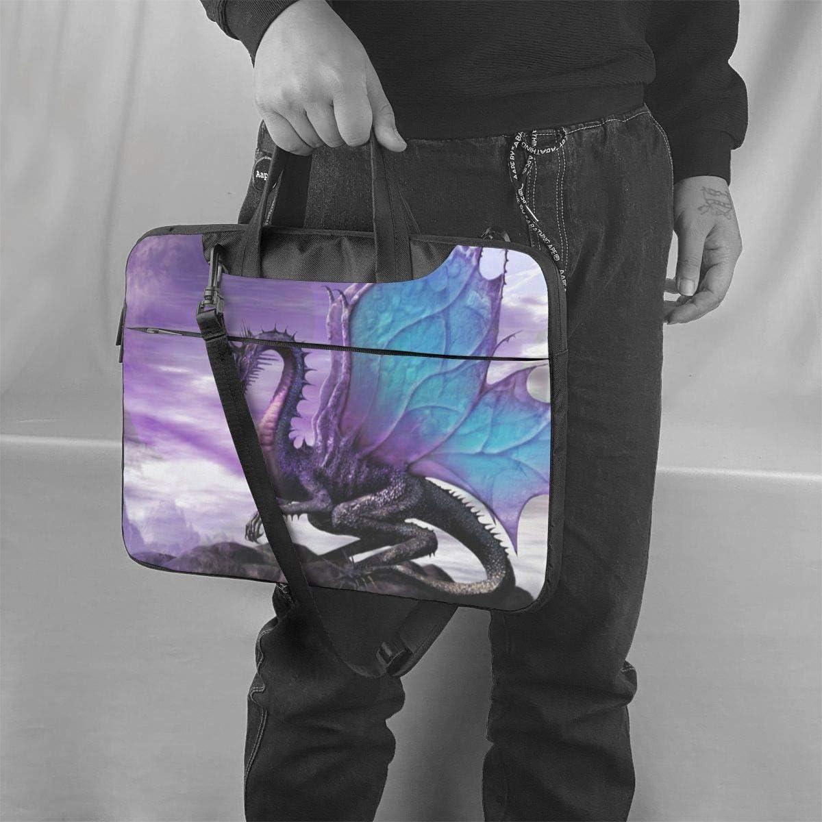 Purple Dragon Purple Moon Printed Laptop Shoulder Bag,Laptop case Handbag Business Messenger Bag Briefcase