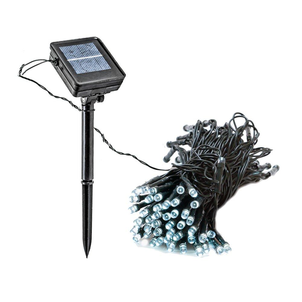 Amazon.com : 55\' Foot Solar Powered Outdoor Christmas String Lights ...