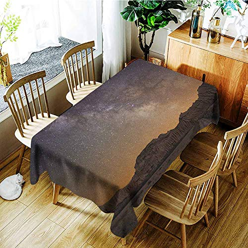 - AndyTours Waterproof Table Cover,Night,Fashions Rectangular,W60x120L Plum Apricot Chocolate