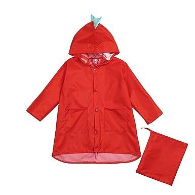 db8e2369e1b7 Amazon.com  Raincoat for Kids Rain Jacket Age 2-7 Dinosaur Shaped ...