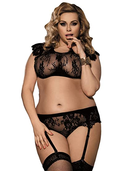 Ropa erótica FMY Lencería Sexy Pijamas eróticos Babydoll Mujeres Encaje Negro Sujetador Seductor Transparente Conjunto de