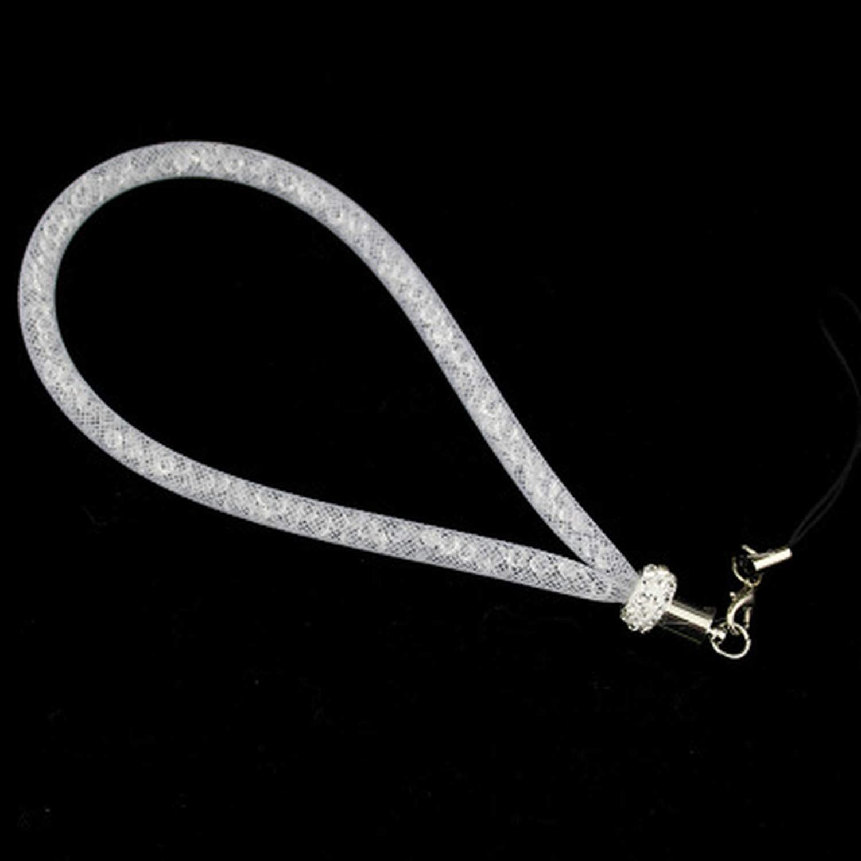yuexianghui Bling Rhinestone Phone Lanyard Straps Shiny Colorful Short Hand Mobile Chain,Black