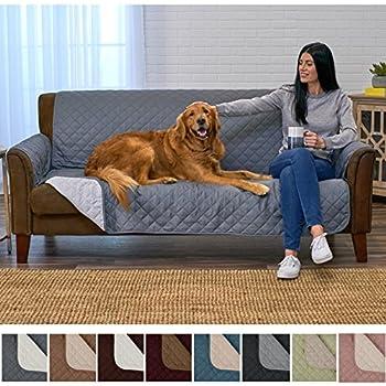 Amazon Com Mason Reversible Sofa Cover Red Pet Supplies