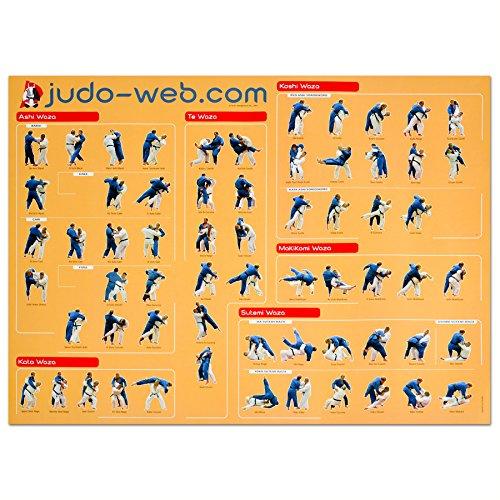 Jukado Large Judo Movement Poster by Jukado