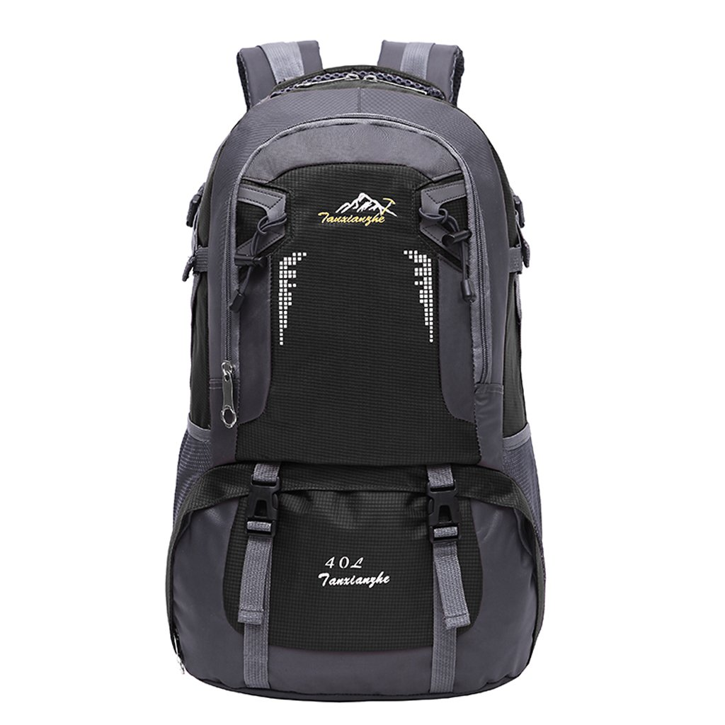 65f5e1af98 Generic 40L Unisex Outdoor Backpack Sport Hiking Travel Waterproof Oxford  Rucksack Mountaineering Bag - Various Colors - black  Amazon.in  Sports