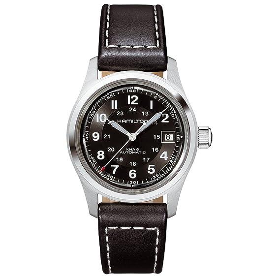 Hamilton H70455733 - Reloj para Hombre, Correa de Cuero Color Negro: Amazon.es: Relojes