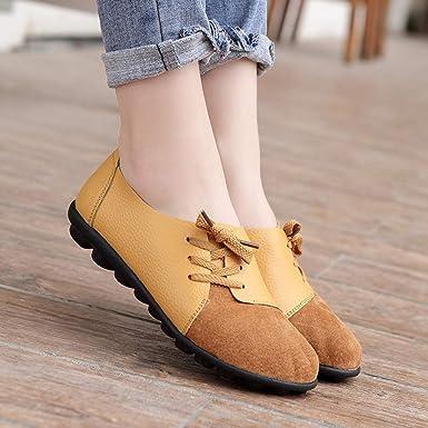 Mocasines Para Mujer Zapatos De Cordones De Mujer De Cuero ...