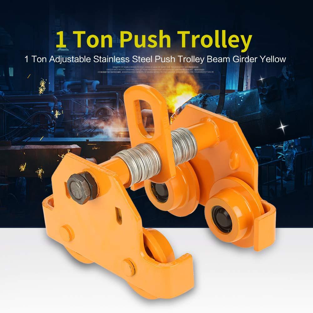 Amazon com: Manual Trolley 1Ton Capacity Push Beam Trolley Push Beam