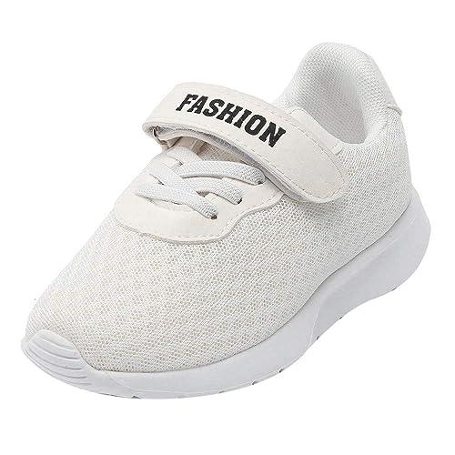 Zapatilla de Deporte Bebé, LANSKIRT Niñas Niños Zapatillas de Correr Zapatos con Velcro Malla Transpirable Zapatilla de Deporte Zapatos Casuales: Amazon.es: ...