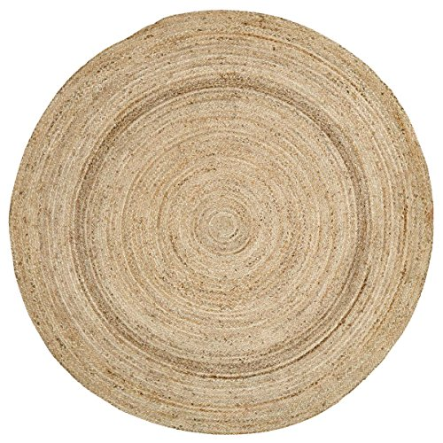Coastal Farmhouse Flooring - Harlow Tan Round Jute Rug, 6' Diameter ()