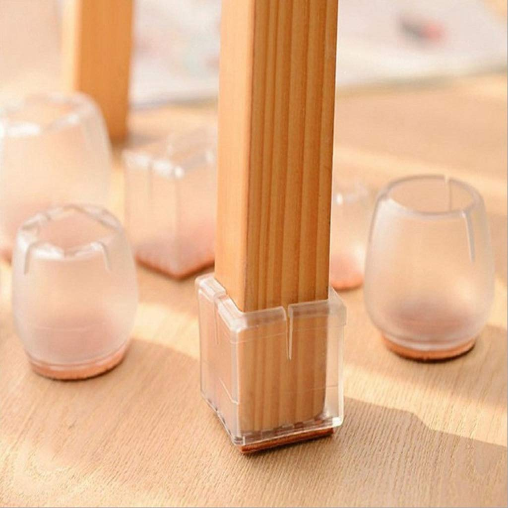 30 pcs Pierna redonda 12-16mm B Blesiya Almohadillas Transparentes Para Muebles de Patas de Silla Para Patas Redondas