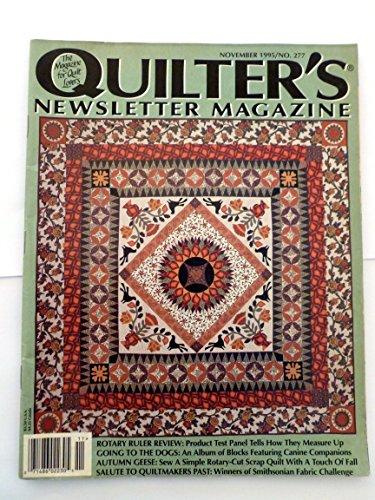 Quilter's Newsletter Magazine November 1995 No.277