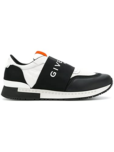 0fa54662d0a Givenchy Men s Bh0001h01j004 White Black Leather Slip On Sneakers ...