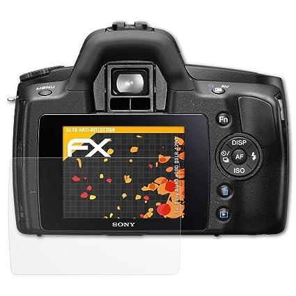 atFoliX Película Protectora Compatible con Sony Alpha a290 DSLR ...