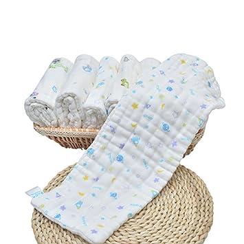 GUO Bebé de gasa de algodón pañales lavables pañales transpirables anillo urinaria reutilizable 10 del paño
