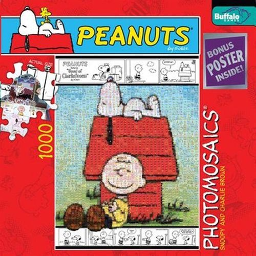 Snoopy & Charlie Brown Photomosaic 1000pcs - Brown Snoopy Puzzle