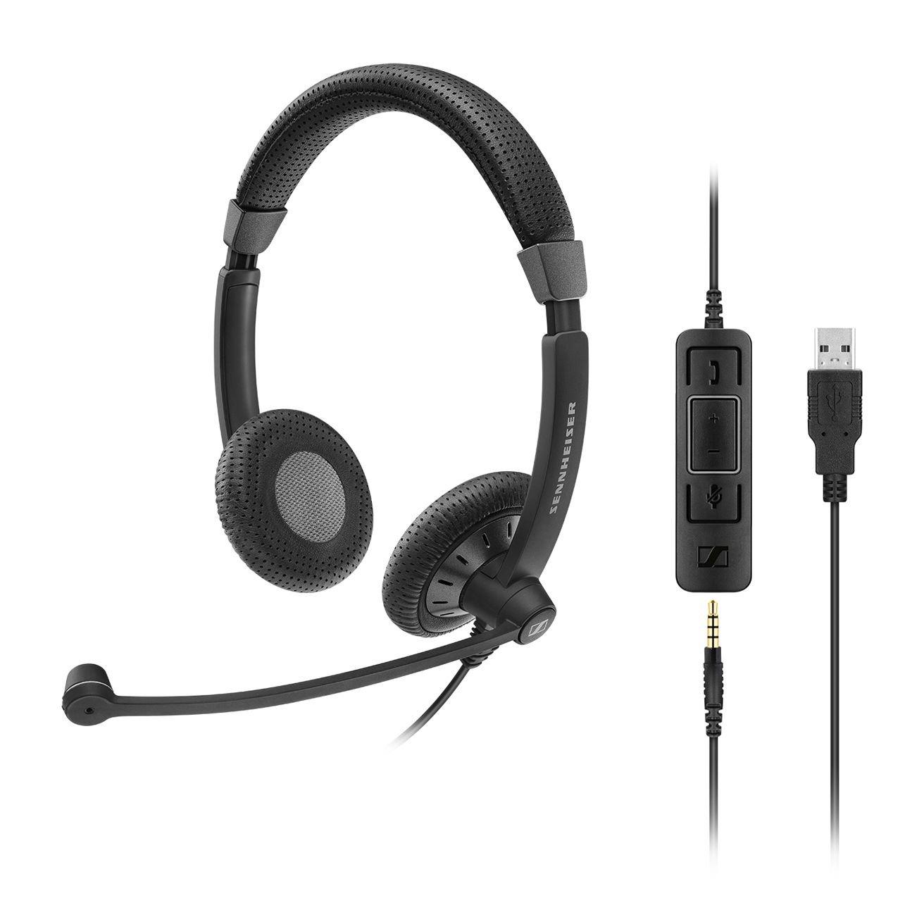 Sennheiser Enterprise Solution 615104277410 SC 75 USB CTRL VOIP Telephone Headset