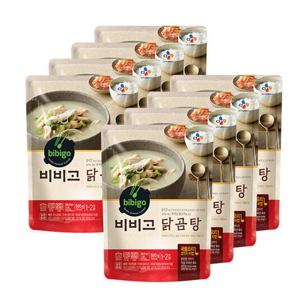 [ 8 Packs ] CJ Bibigo Korean Chicken Gomtang Beef-Bone Soup 닭곰탕 500g