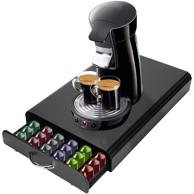 SortWise ® Heavy-Duty Metal 60 Coffee Capsules Storage Drawer for Nespresso Coffee Pod Organizer