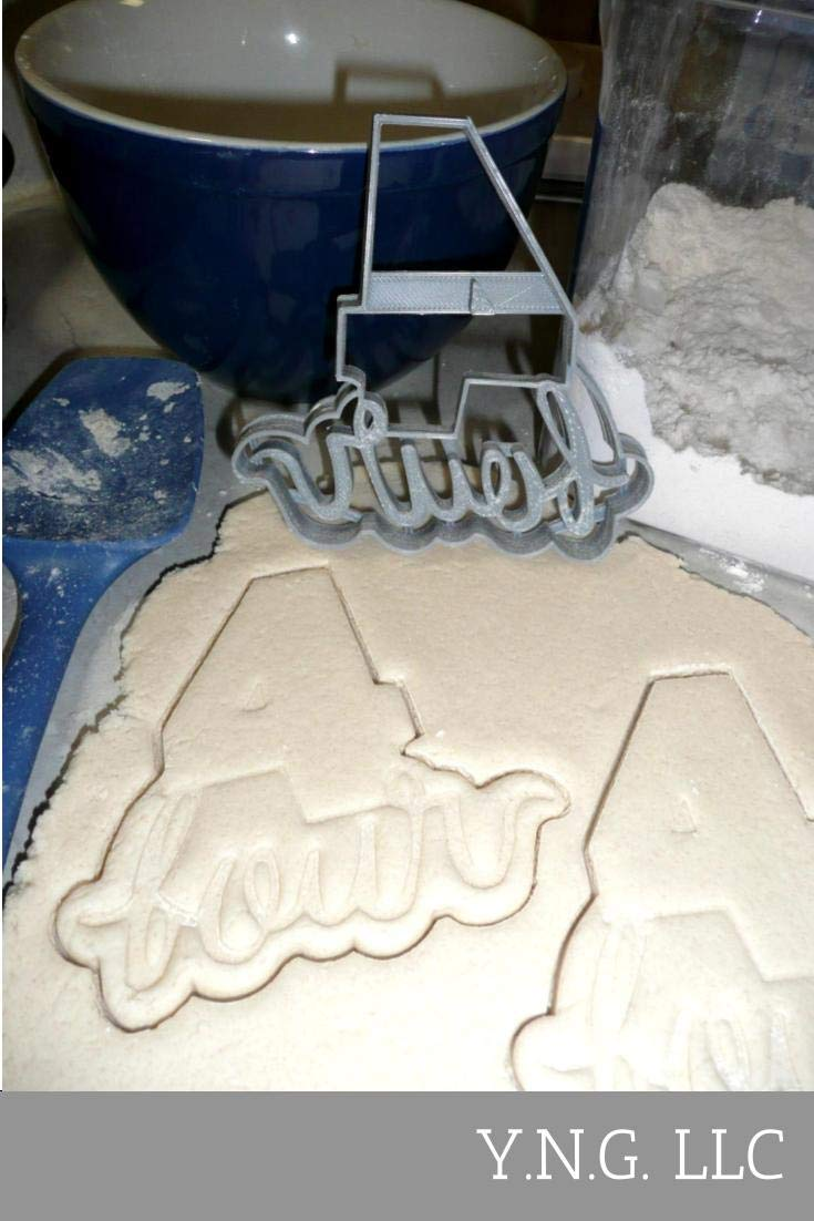 NUMBER WITH WORDS LETTERED 1 ONE THROUGH 10 TEN PLAQUES WORD NUMBERS PARTY BIRTHDAY CELEBRATION SET OF 10 SPECIAL OCCASION COOKIE CUTTERS BAKING TOOL 3D PRINTED MADE IN USA PR1157 by YNGLLC (Image #3)
