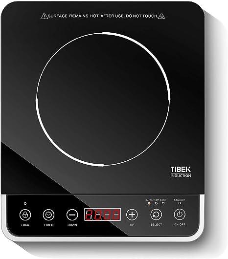 Amazon.com: Placa de inducción portátil 1800W Sensor Touch ...